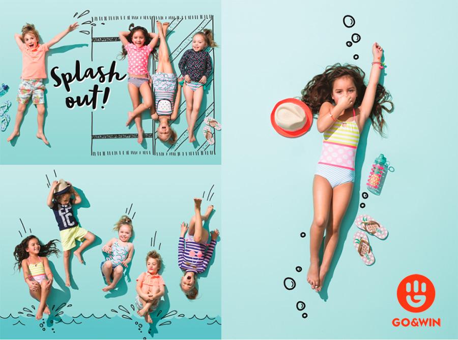 moda infantil baño verano playa