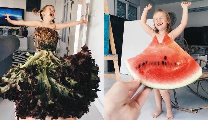 Los vestidos imaginarios de verduras que triunfan en Instagram